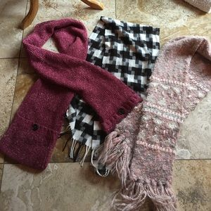 Set of 3 Scarves EUC , handmade and Lole